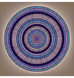 Round knitted pattern vector