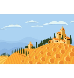 Hay in the italian countryside vector