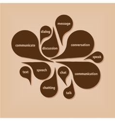 Communication bubbles vector