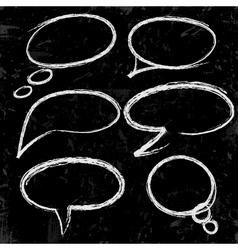 Sketch of speech bubbles vector