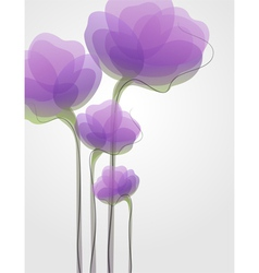Purple flowers - elegant design vector