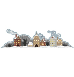 Town winter isolated vector