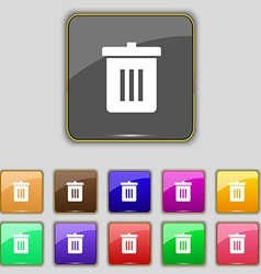 Recycle bin reuse or reduce icon sign set with vector