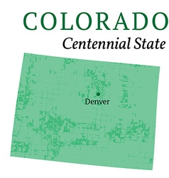 Colorado state stylized map vector