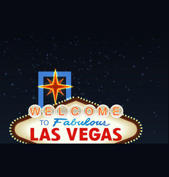 Night las vegas sign vector