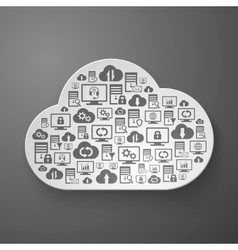 Hosting network and cloud service icons vector