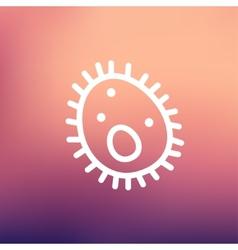Bacteria thin line icon vector