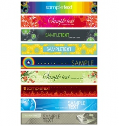 Collection of colorful different banners vector