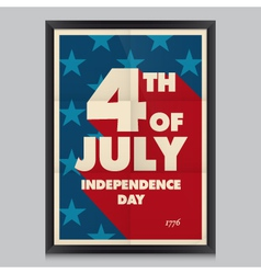 Happy independence day poster vector