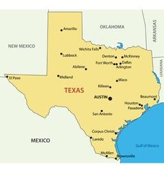 Texas - map vector