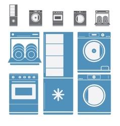 Home electronic appliances vector