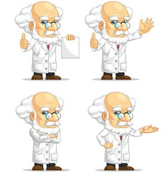 Scientist or professor customizable mascot 13 vector