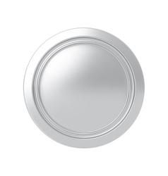 Silver medal vector