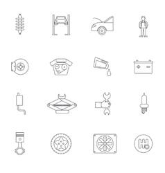 Auto service outline icon vector