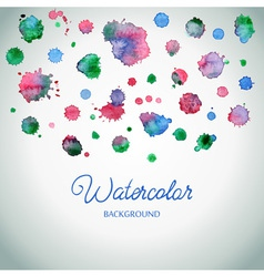 Spray paint watercolor splash background colorful vector