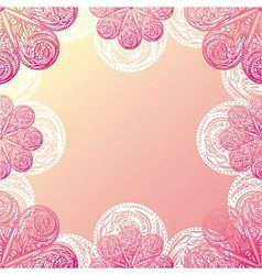 Floral nature pattern card vector