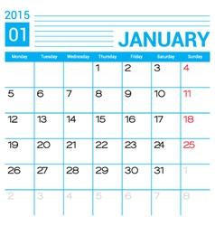 January 2015 calendar template vector