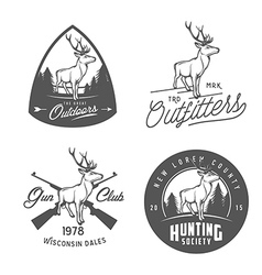 Set of vintage outdoors badges and design elements vector