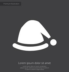Santas hat premium icon white on dark background vector