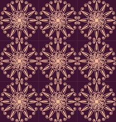 Circular pattern with flowers floral circular pat vector