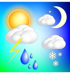 Abstract weather image set vector