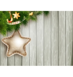 Christmas decoration with fir branches eps 10 vector