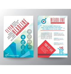 Abstract typography polygon brochure flyer layout vector