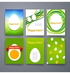 Easter eggs templates flyer brochure vector