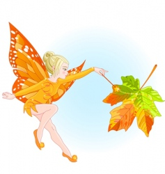 Fairy autumn vector