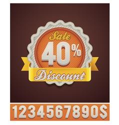 Discount badge vector