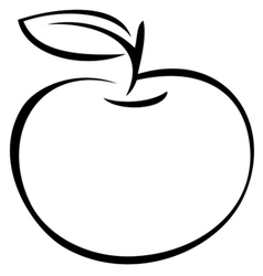Apple outline vector