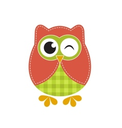 Funny owl vector