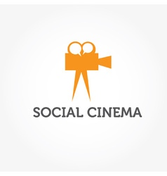 Social cinema vector