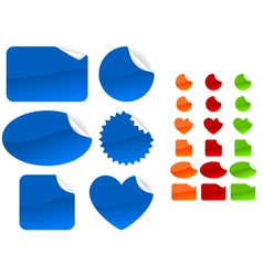 Six different forms and four different colors set vector