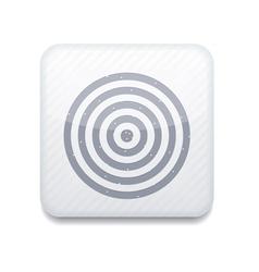 White darts icon eps10 easy to edit vector