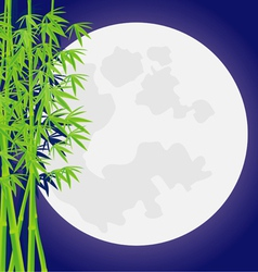 Bamboo moon vector