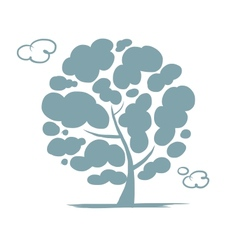 Cloudy tree for your design vector