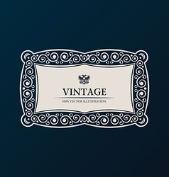 Label frame vintage banner decor vector