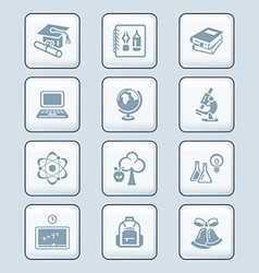 Education icons - tech series vector