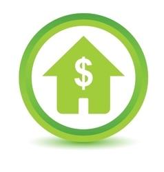 Dollar house volumetric icon vector