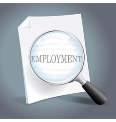 Searching for employment concept vector