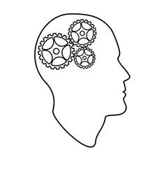Brain gears vector