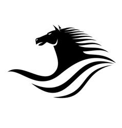 Dynamic horse head icon vector