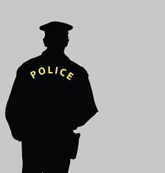 Policeman silhouette vector