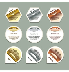 Gold silver bronze progress background product vector