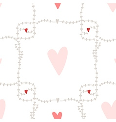 Seamless pattern with square wreath elements vector