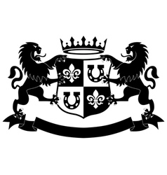 Lions heraldry shield vector