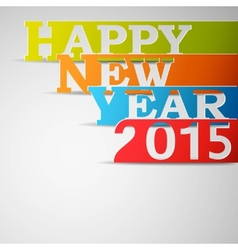 Happy new year 2015 paper strips vector
