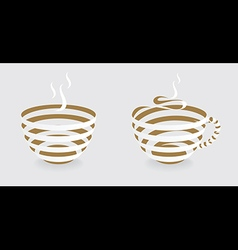 Ribbon coffee cup vector