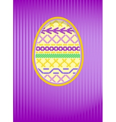 Easter card embroidery vector